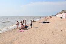Пляж базы отдыха Салют