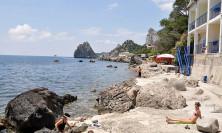 Пляж гостиницы Ассоль в Симеизе