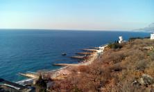 Вид на пляж сан. Зори России