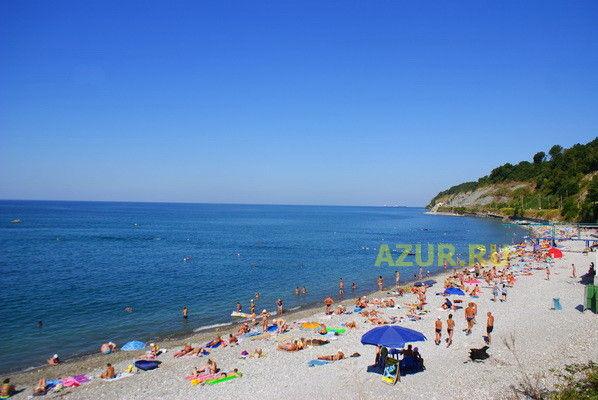 Лазаревское веб камера на центральном пляже.
