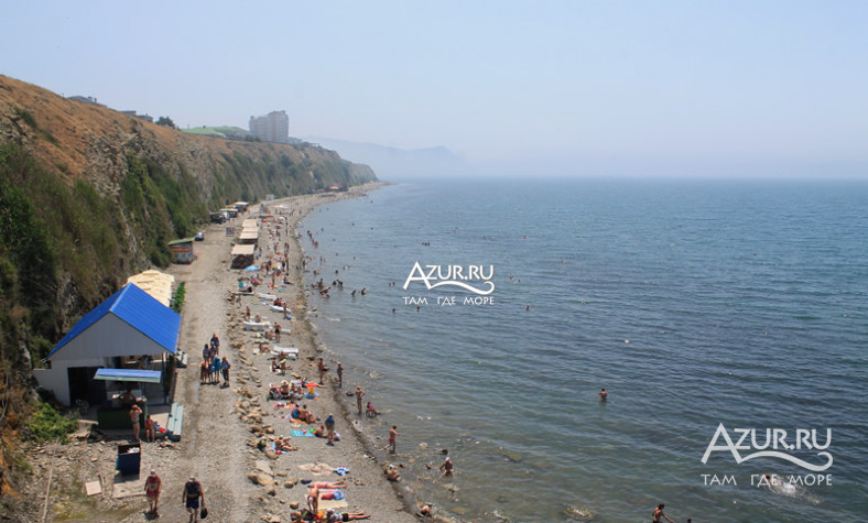 Анапа высокий берег фото поселка и пляжа