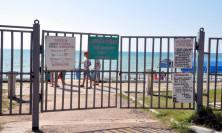 Закрытый пляж лагеря Бригантина