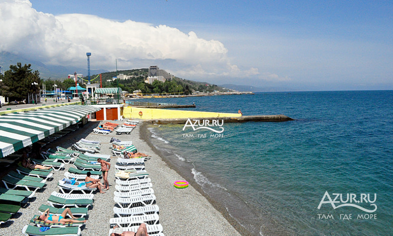 Алушта фото моря пляж