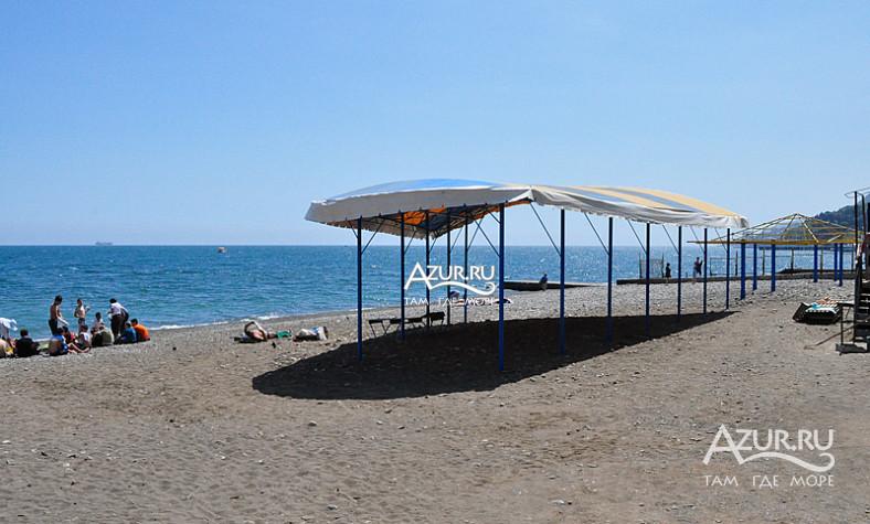 Пляж пансионата Жемчужина