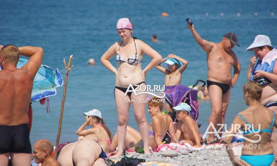 людей на пляже фото