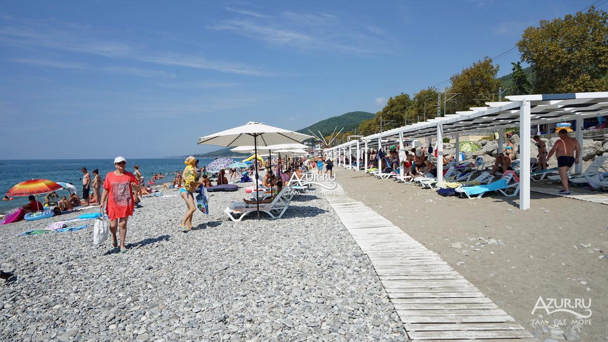 Песчаный пляж в лазаревском фото древние